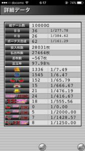 ハッピージャグラー設定5|の最大ハマリゲーム数、挙動、確率データ_26